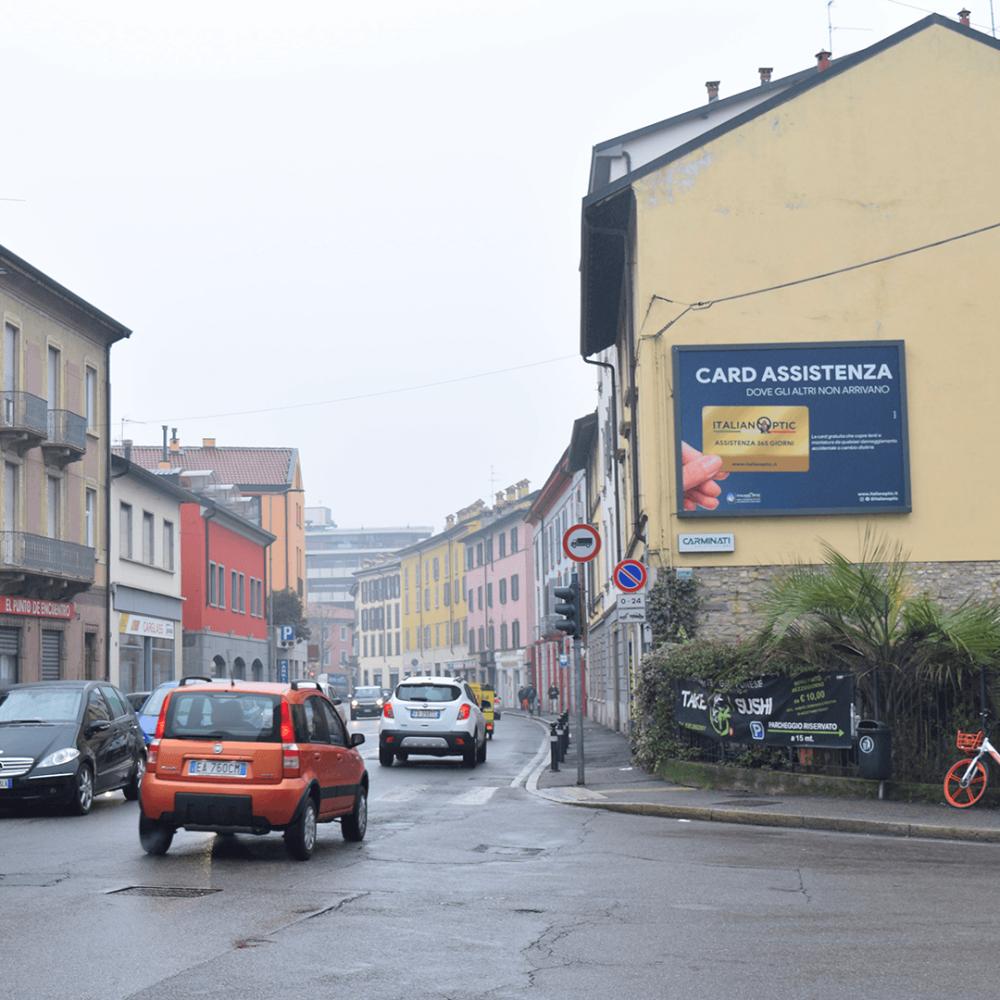 Affissione 4x3 in Via Previtali a Bergamo