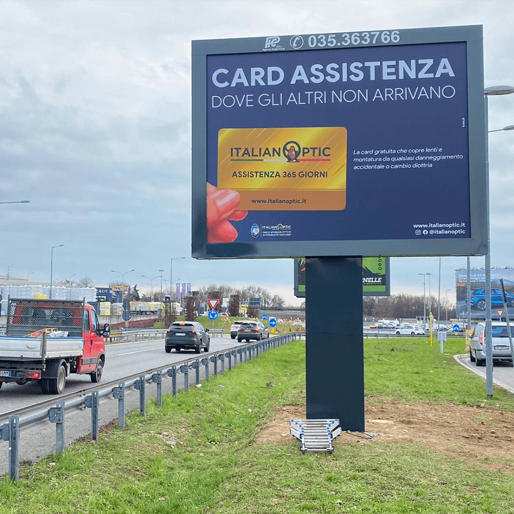 Affissione 4x3 in Via Autostrada a Bergamo